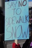 say no to sidewalk snow sign