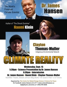 poster for climate reality event - details below