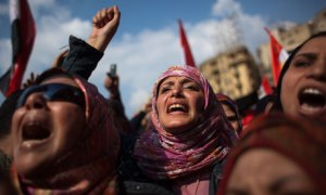 Egyptian women protesting
