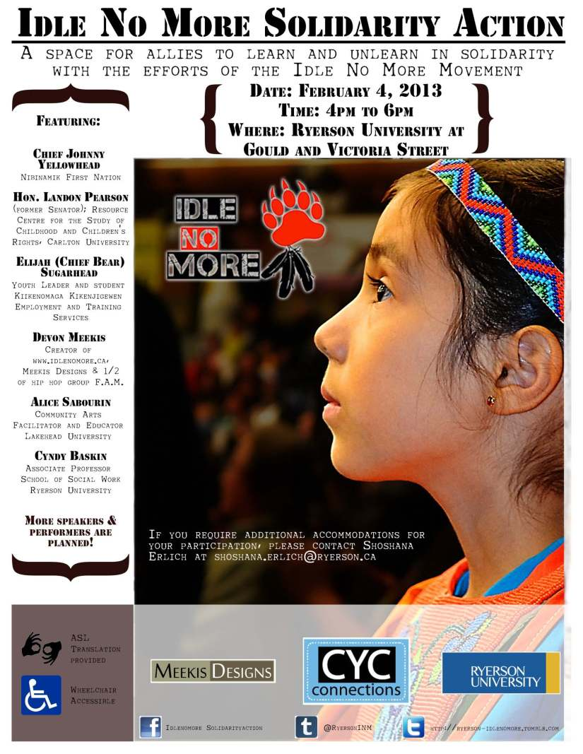 idle no more ryerson event flyer