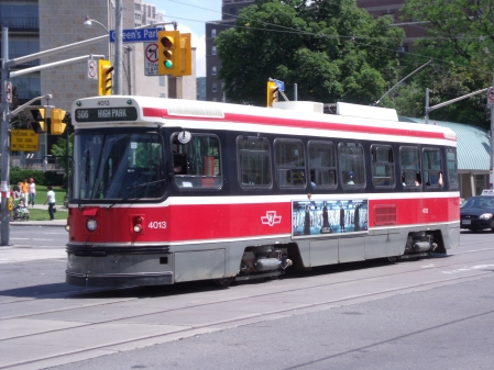 Image of a TTC streetcare, used under creative commons